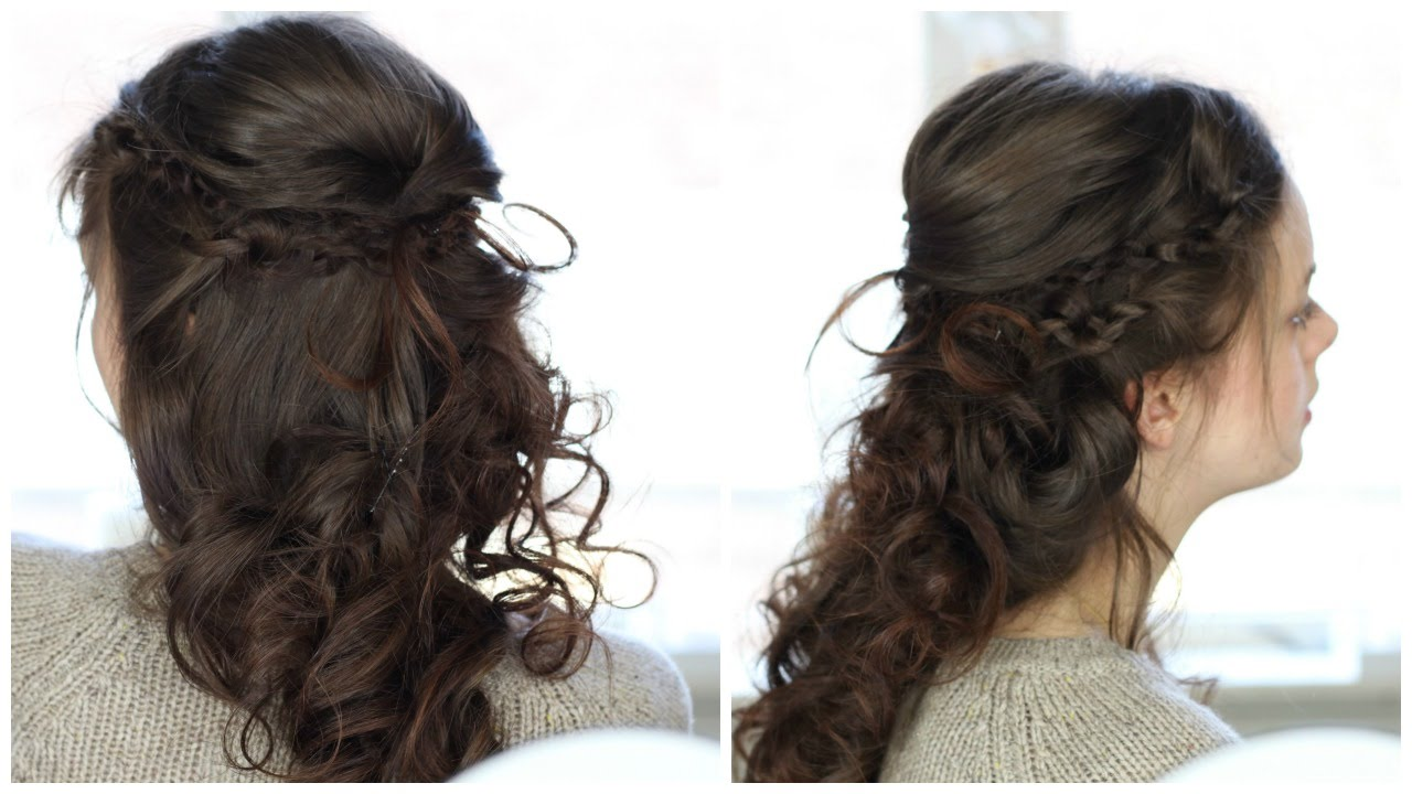 Wedding Hairstyle for Curly Hair - YouTube