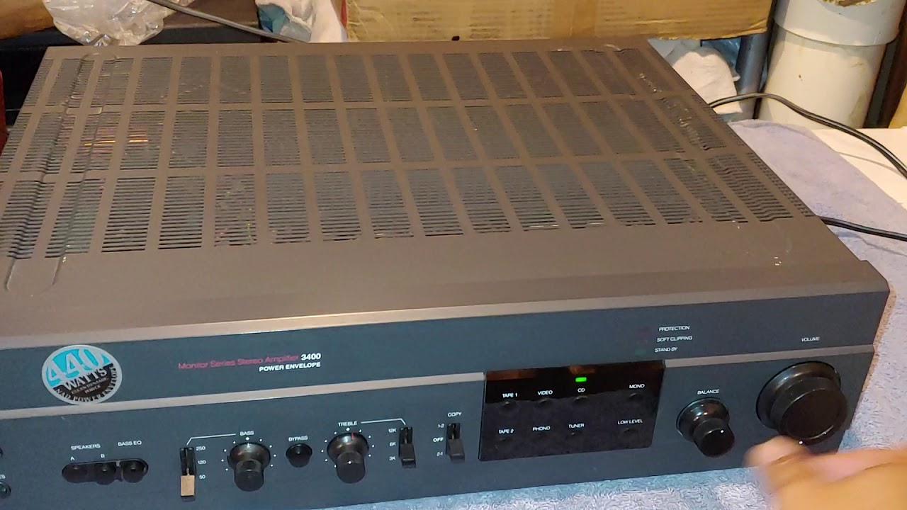 NAD 3400 Stereo Integrated Amplifier with a Denon DCD-910 and a Technics  SL-210 Turntable