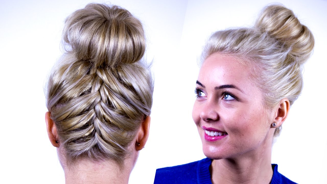 Upside Down French Braid Updo Tutorial Become Gorgeous