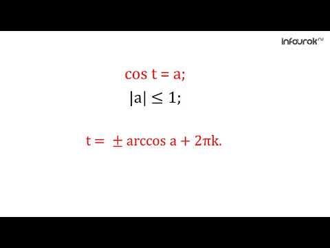 26  Арккосинус  Решение уравнения Cost = а