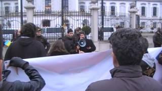 Nechceme vojnového zločinca Porošenka na Slovensku! 16.11.2014 Bratislava