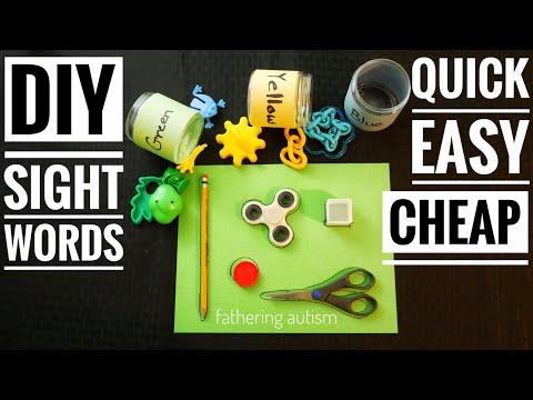 DIY Sight Words Activities | Fathering Autism DIY