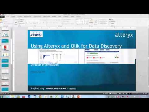 KPMG @ Inspire: Alteryx and Qlik