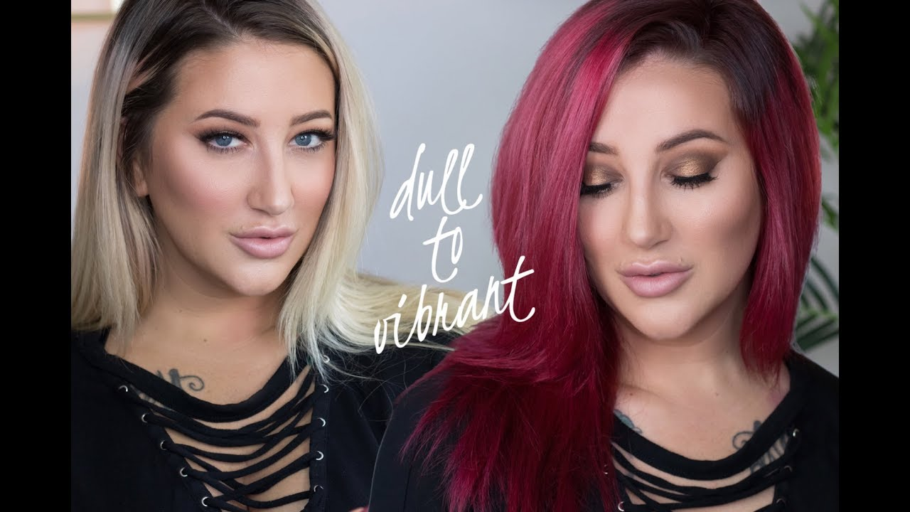 DIY Dull Blonde to Vibrant Red   Back to School Hair Color Tutorial
