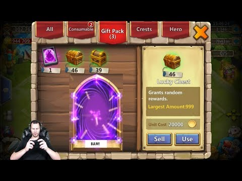 30000 Free 2 Play Gems Rolling For Hire Heroes & Win Castle Clash