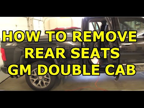[HOW TO] Remove the Rear Seat on a 2014-2018 GM Double Cab (EASY)