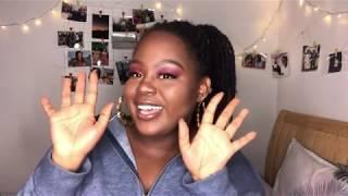 Estars Glitz & Glam Eyeshadow Try on    First YouTube Video    BW YouTuber