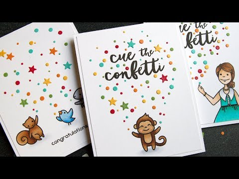 Confetti Launching Cards