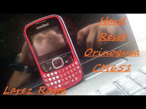 Hard Reset De Orinoquia CM651, C6100, Jasper