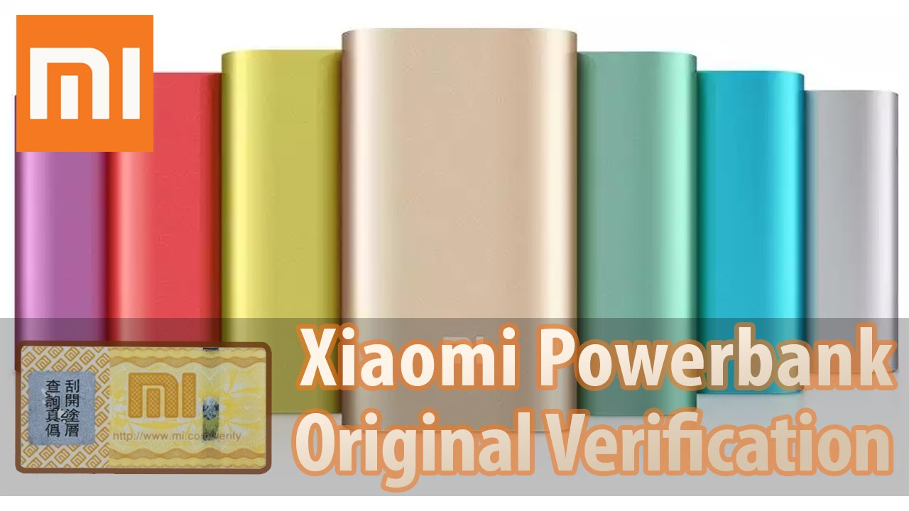 Xiaomi Powerbank Original Product Verification