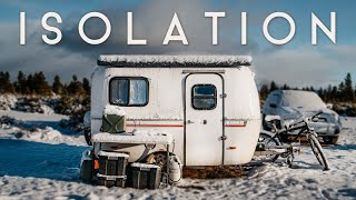 SNOW STORM ISOLATION // OFF-GRID 13ft Scamp Trailer