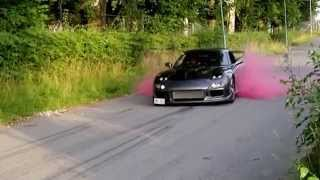 RX7 FD3S Burnout KUMHO red smoke drift tyres