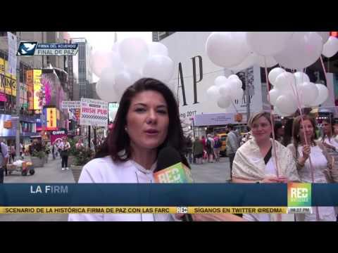 La firma de la paz con las Farc fue protagonista en Time Square, Nueva York