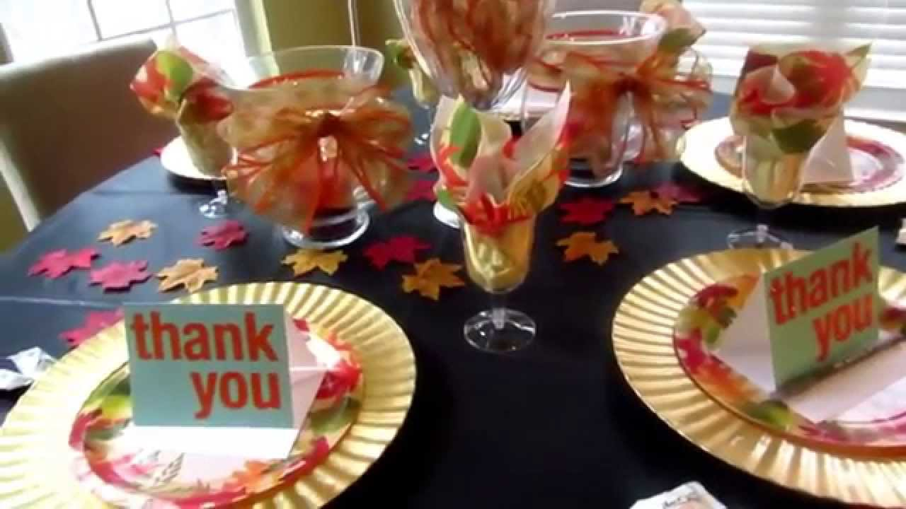 & Lakishau0027s Thanksgiving Table Set Up - YouTube