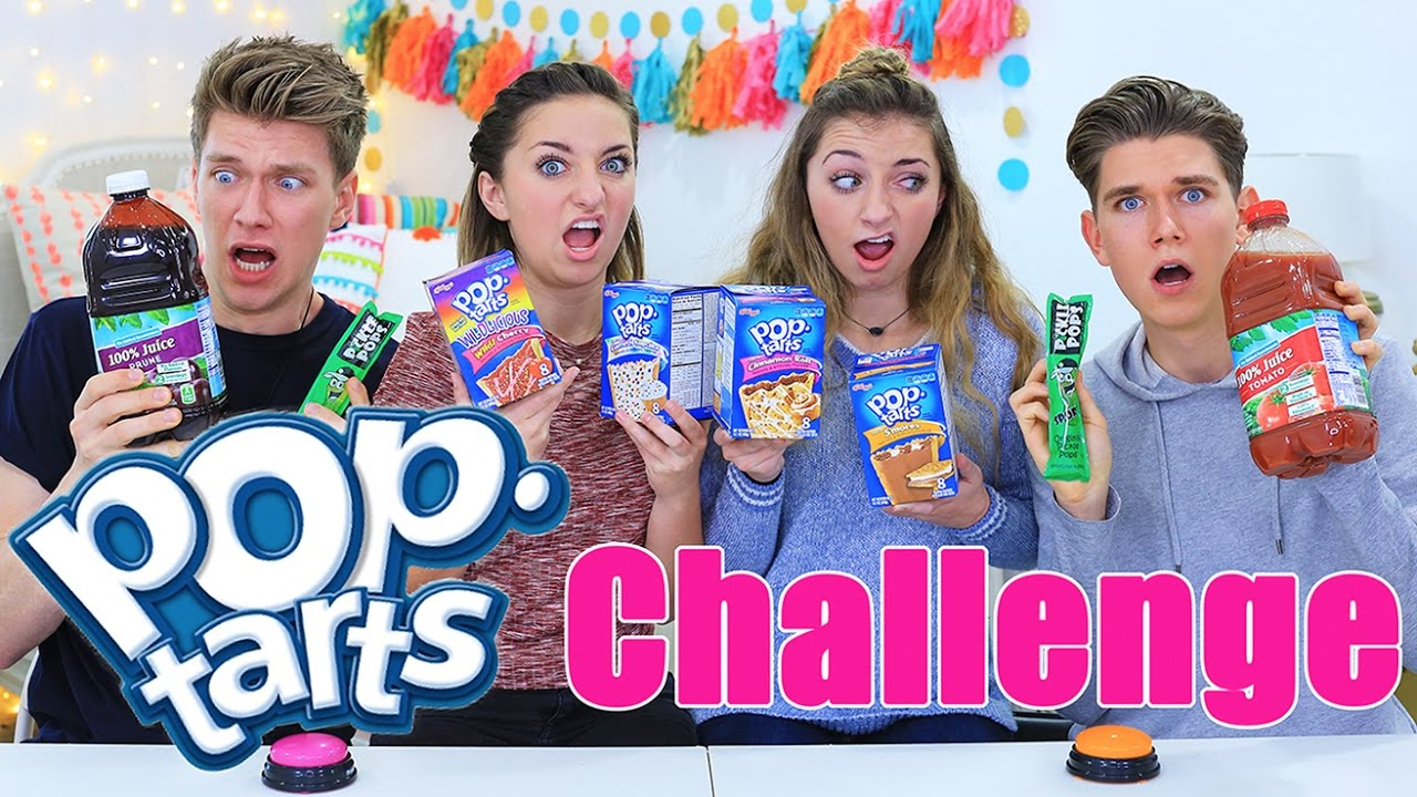 Pop Tarts Challenge ft. Collins Key | Vlogmas Day 2 | Brooklyn and Bailey