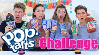 Pop Tarts Challenge ft. Collins Key | Vlogmas Day 2 | Brooklyn and Bailey thumbnail