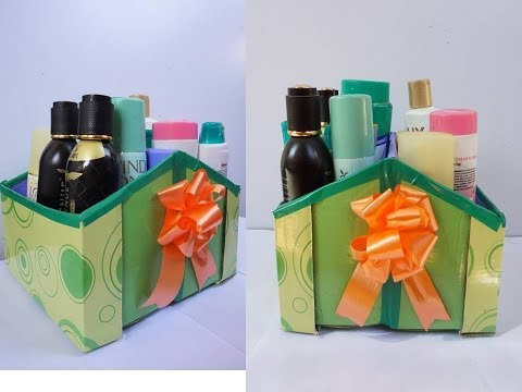 Best Space Saving Organizer from empty Shoe Box | Home Organizer | Best out of waste Shoe box Craft