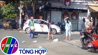 THVL   Nhắc nhở việc vứt rác, nữ lao công bị chủ shop quần áo đánh