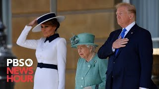 WATCH: Queen Elizabeth greets President Donald Trump and first lady Melania Trump