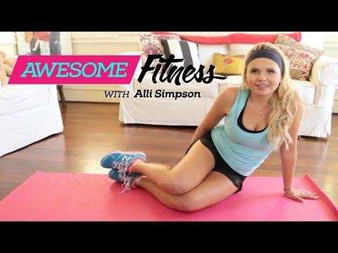 Alli Simpson AwesomeFITNESS: Killer Abs Workout