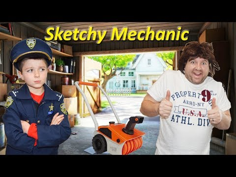 Sketchy Mechanic and the Broken Snow Thrower Hilarious Kids Video