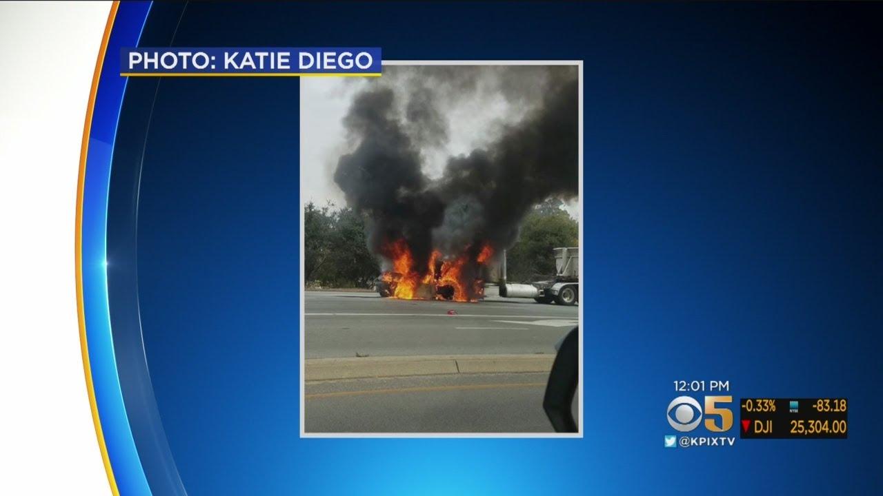 At Least 14 Cars Involved In Fiery Injury Crash On Hwy 1 In Santa Cruz