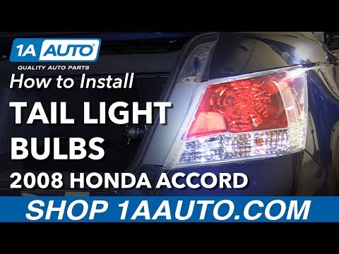 How to Install Replace Tail Light Reverse Turn Signal Bulbs 2008 Honda Accord