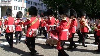 英国近衛軍楽隊の行進 Coldstream Guards Band in Yokohama, Japan
