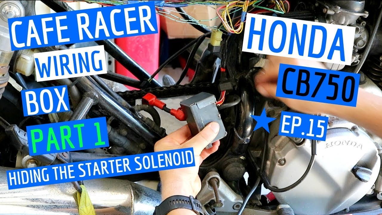 medium resolution of making a cafe racer electronics box to hide starter solenoid hiding motorcycle wiring ep 15