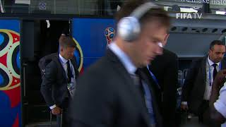 DENMARK ARRIVE - MATCH 6 @ 2018 FIFA World Cup™