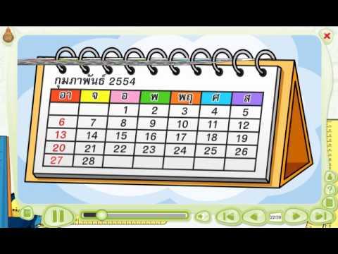 สื่อการเรียนรู้วิชา คณิตศาสตร์  ชั้น ป. 1  เรื่อง  ชื่อวันในสัปดาห์  หนึ่งปีมี  12  เดือน