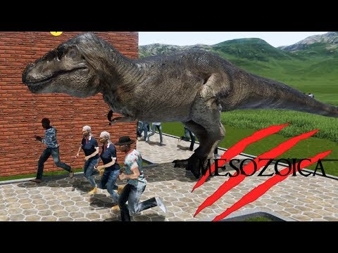 IT'S FINALLY HERE! Build Your Own Dinosaur Theme Park! - Mesozoica Gameplay