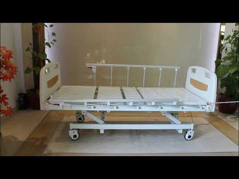KJW-D305LN 5 Inches Castors Electric Automatic Hospital Bed With Three Functions , 3 Years Warranty