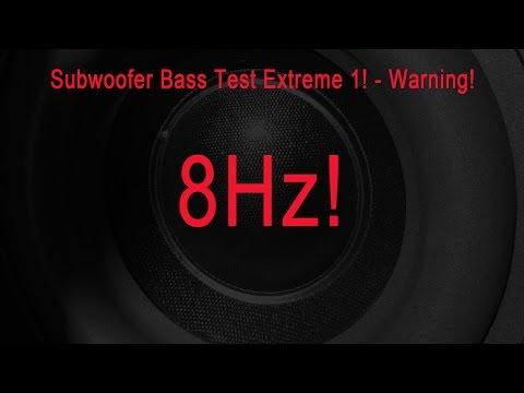 Subwoofer Test Extrem - Warning! 40-8 Hz NEW
