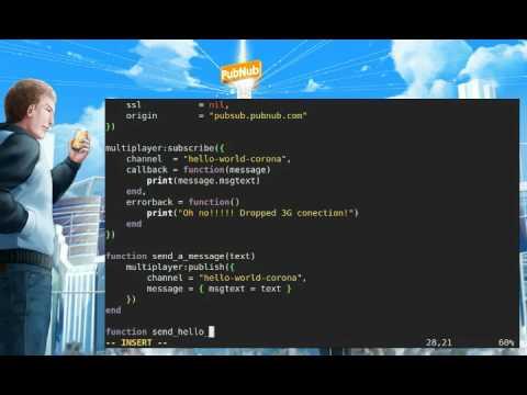 PubNub Corona SDK Multiplayer Networking and Push Notifications API