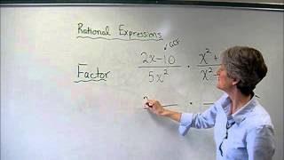 simplify multiply and divide rational expressions wmv