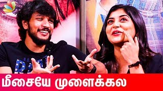 OMG 😂 : Gautham Karthik & Manjima Mohan Reacts to Funny Youtube Trolls | Devarattam Interview