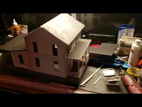 Myers house diorama build part 4