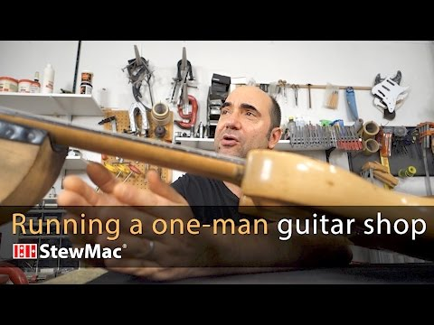 Running a one-man guitar shop