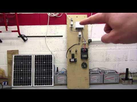 AA NiMh Li-Ion Solar charging set-up