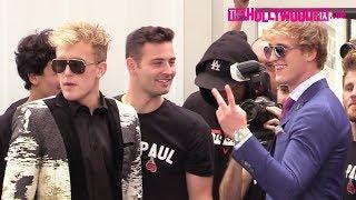 Jake Paul & Logan Paul Prepare Backstage For Their Boxing Press Conference Against KSI & Deji