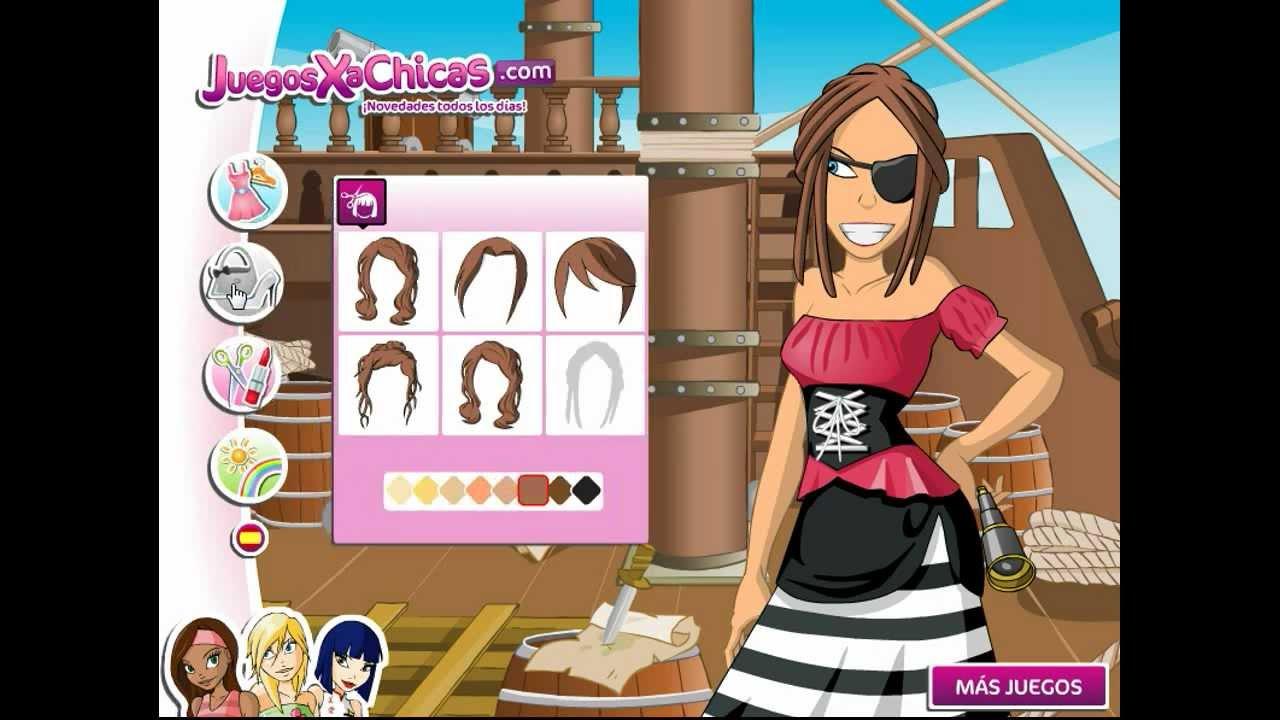 Juego De Vestir De Pirata Juegos Para Chicas