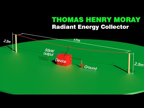 Free Energy Generator, THOMAS HENRY MORAY Radiant Energy Collector