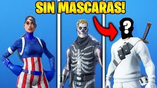 GLITCH TO REMOVE THE MASKS TO FORTNITE SKINS!! 😱