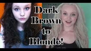 HOW TO: Dye Dark Brown Hair to Blonde at home!