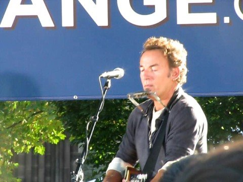 Springsteen Ohio Rally -Ghost of Tom Joad