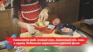 Vilma салат с курицей и блинами