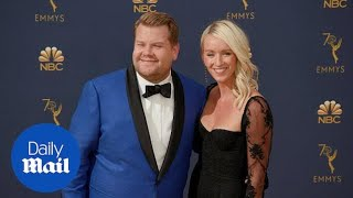 James Corden and wife Julia Carey look smitten at Emmy Awards thumbnail