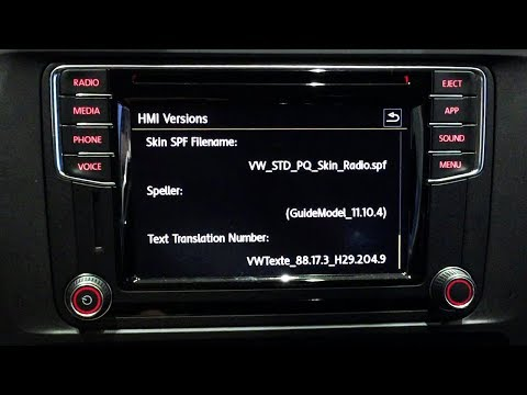VW Composition Media radio hidden menu (service test mode)