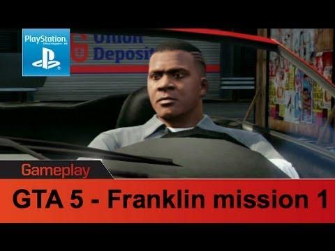gta 5 ps3 gameplay franklin mission 1 youtube. Black Bedroom Furniture Sets. Home Design Ideas
